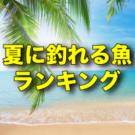 夏の釣りで釣れる魚・対象魚!6月・7月・8月の人気魚種ランキング!